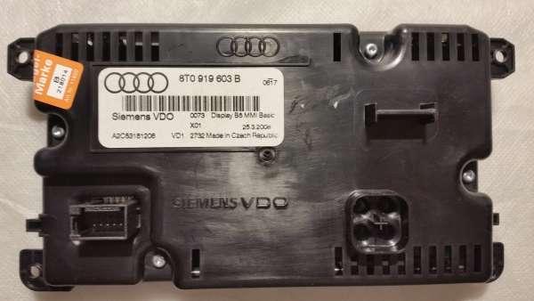 8T0919603B Bordcomputer Display Infodisplay für Audi
