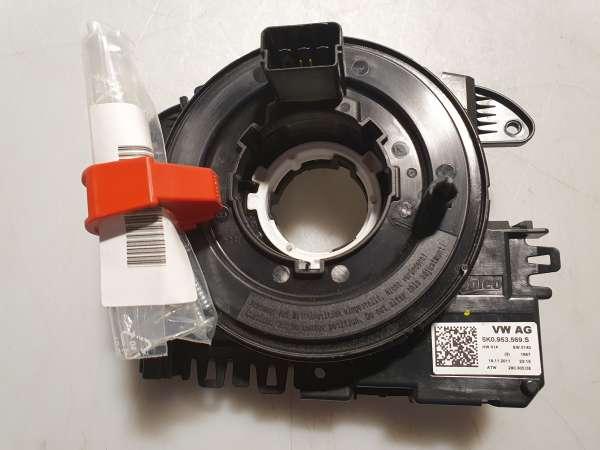 5K0953569S Wickelfeder mit Elektrikmodul und Lenkwinkelsensor für VW & Skoda