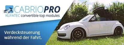 Cabrio Pro Verdeckmodul – automatisches Öffnen und Schließen des Verdecks auch während der Fahrt