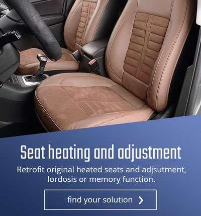 Retrofit seat heating and adjustment
