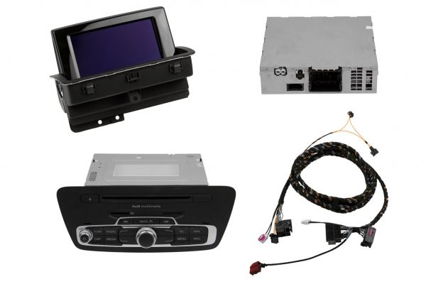 39687 - Nachrüst-Set MMI 3G Navigation plus für Audi Q3 8U Passiv Lautsprecher